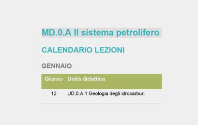 Calendari moduli MD1B, MD2A, MD2B
